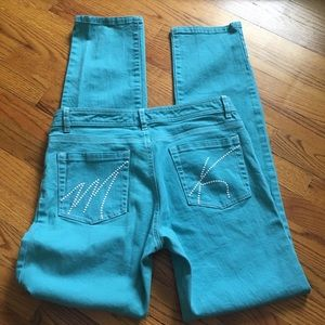Michael Kors straight leg baby blue jeans size 6